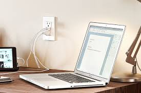 laptop-getting-leviton-USB-charge-wall-outlet-wilcox-electric-dc